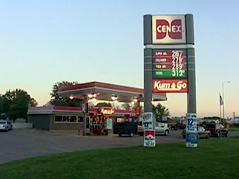 liquor sting \ gas station