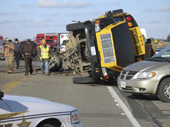 bus crash \ bus accident near cottonwood, mn