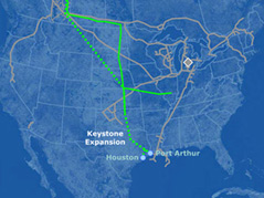 keystone pipeline \ second proposed route