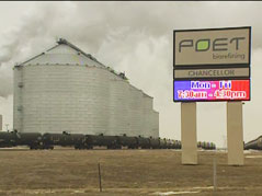 ethanol plant poet chancellor corn fuel