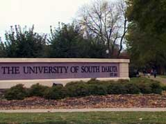 university of south dakota sign celebration USD vermillion