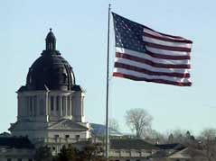 pierre capitol building law lawmakers governor flag