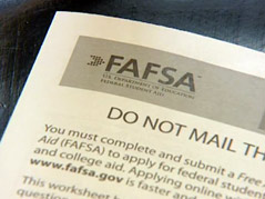 fafsa student loan application financial aid college