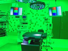 green lights in the or