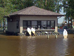 lake norden flooding floodwaters #061710 ice cream shop surrounded