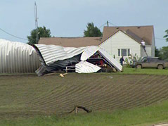 alden, minnesota farm tornado damage #061810 zeller family