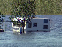 lake poinsett estates campground flood water