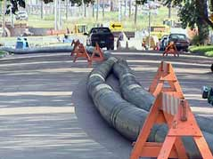 Temporary sewer lines laid in Sioux Falls