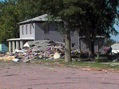 explosion menno house destroyed woman killed