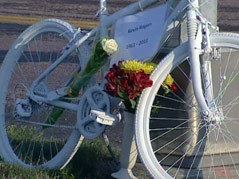 ghost bike kevin rogers killed by drunk driver CTU professor