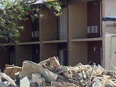 oaks hotel demolition tearing it down