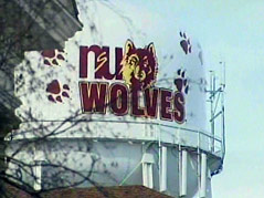 northern state university aberdeen water tower wolves