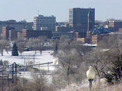 sioux falls skyline winter shot buildings downtown