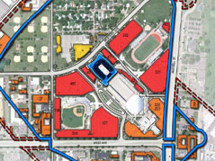 arena events center site parking options