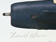 harold thune plane art painting signature john thune