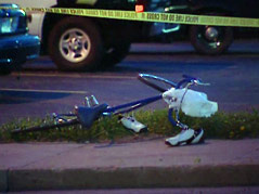 bike versus car crash James mcinnes hit david kinner suspect DWI 10th street and cliff avenue
