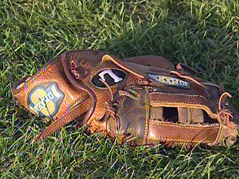 baseball mitt glove sioux falls SEBA traveling teams field grass summer