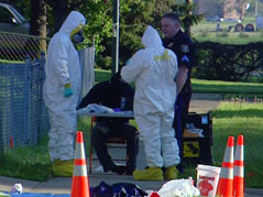 meth lab bust hazardous materials hazmat West 38th street sioux falls
