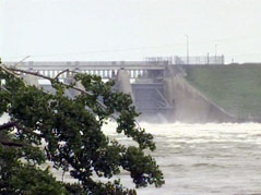 gavins point dam nebraska side missouri river