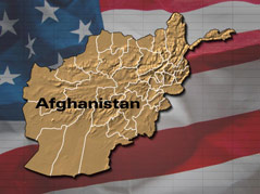 afghanistan flag map