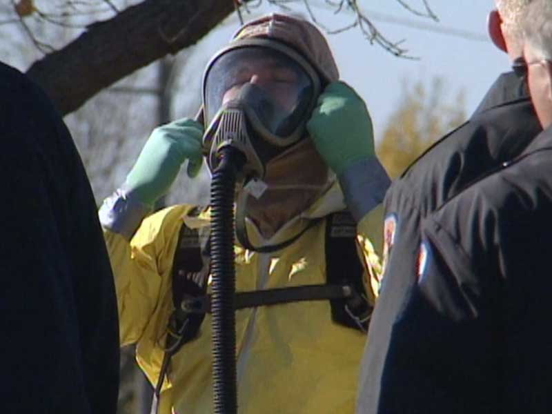 hazmat team yellow suit