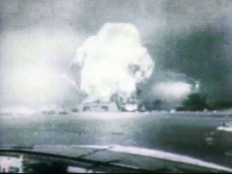 attack on pearl harbor black and white World War II video