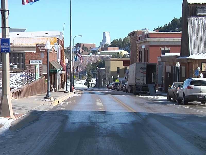 downtown Lead / town of lead / south dakota