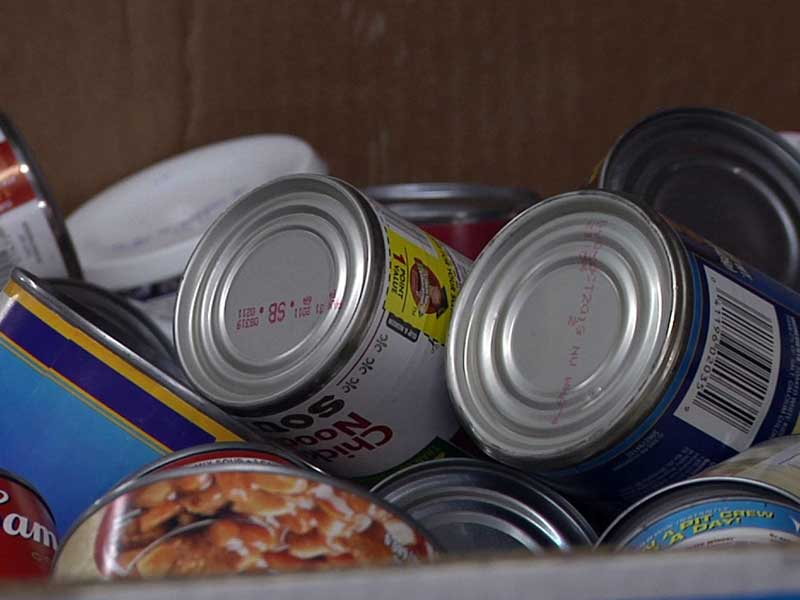 food bank cans donations food drive food pantry non-parishable