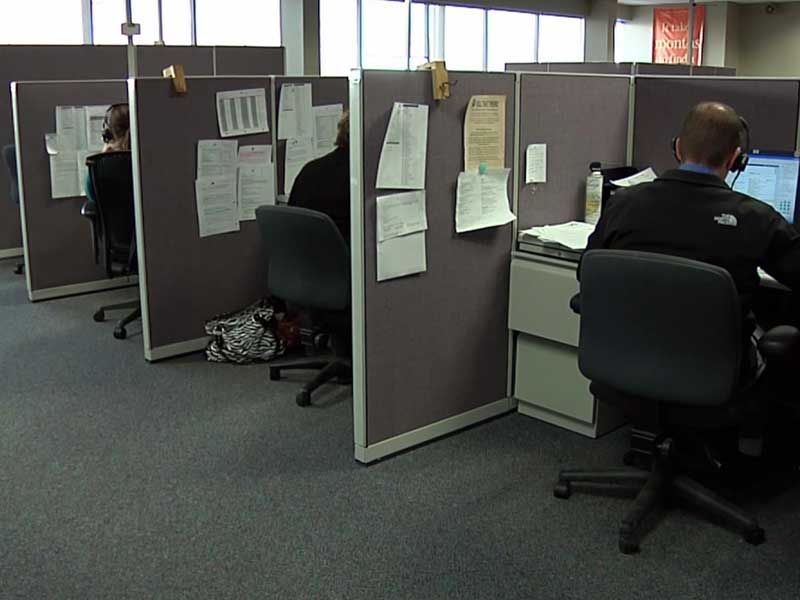 TMone new spearfish business call center cubicles employees workforce
