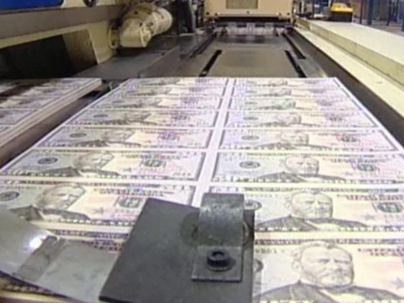 printing money $50 bills cash funding USA