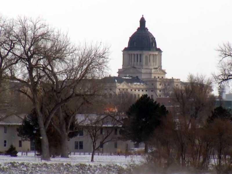 pierre capitol building legislature lawmakers  snow winter