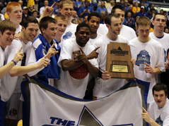 south dakota state university mens basketball team summit league champions