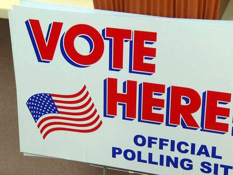 voting vote here sign precinct