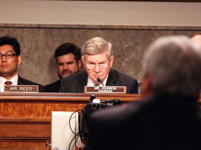 senator tim johnson committee meeting