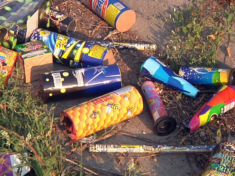 fireworks used fourth of july trash july 4th celebrations