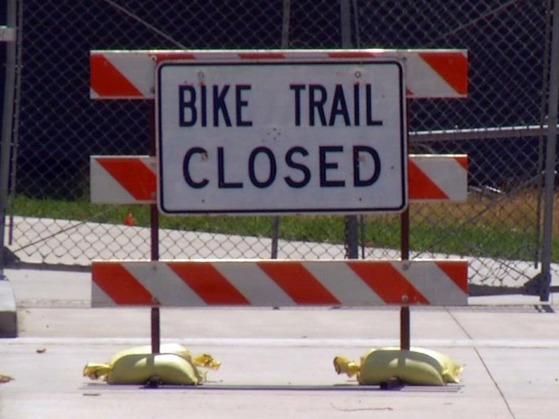 bike trail closed