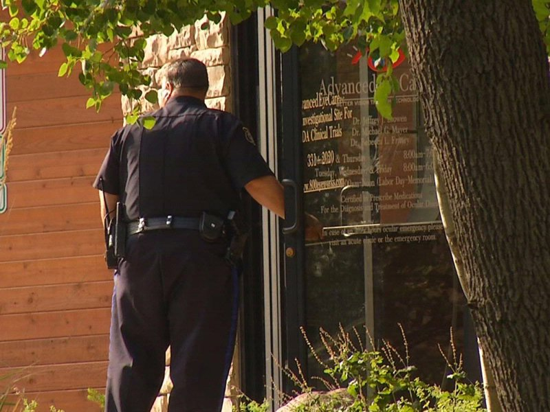 advanced eye care investigation officials search eye doctor office