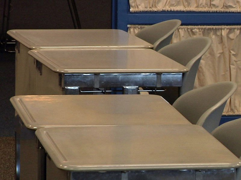 memorial middle school classroom desks students back to school first day education