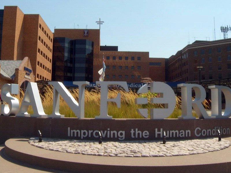 sanford hospital sioux falls front of main hospital building health care Sanford Health T. Denny Sanford
