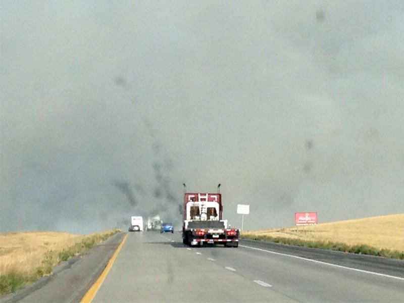 fire burning near mile marker 177