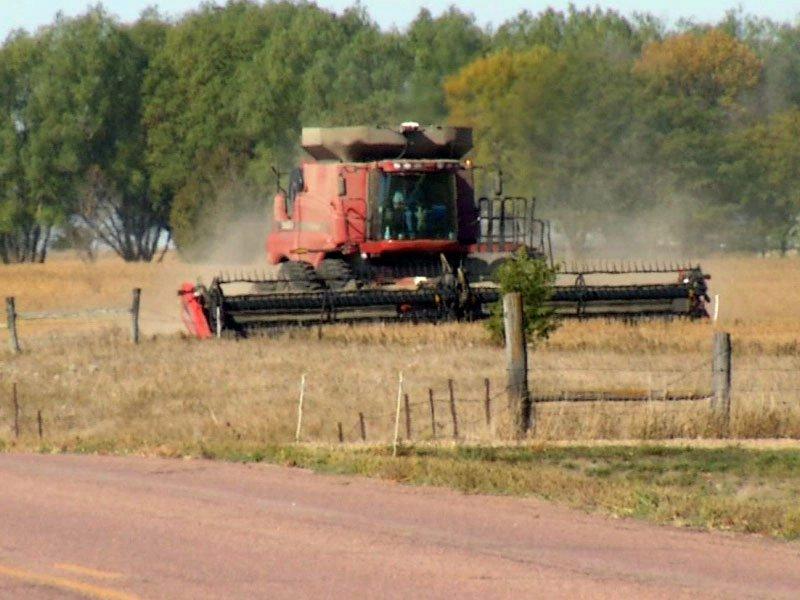 harvest combine crops
