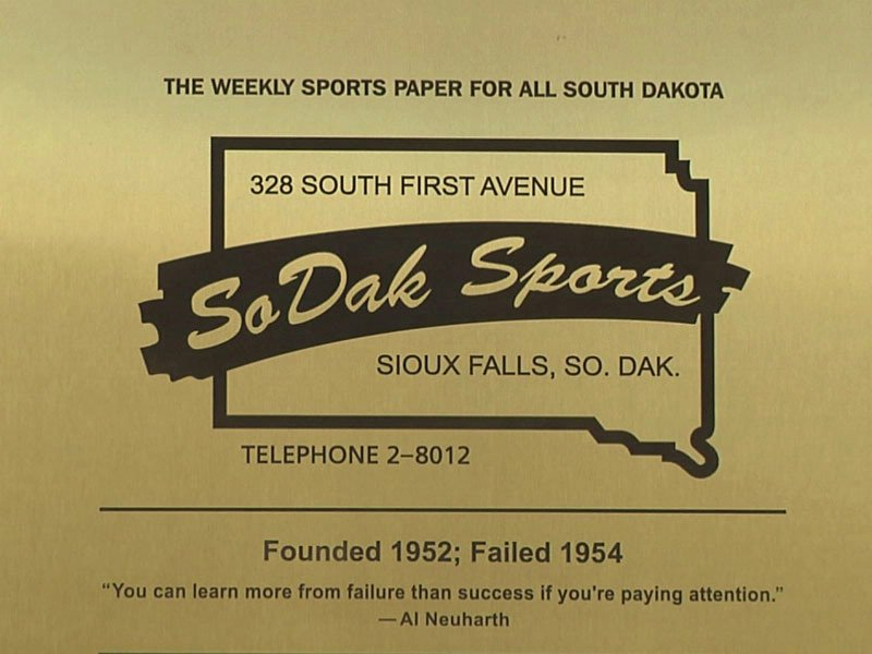 sodak sports neuharth plaque outside sid