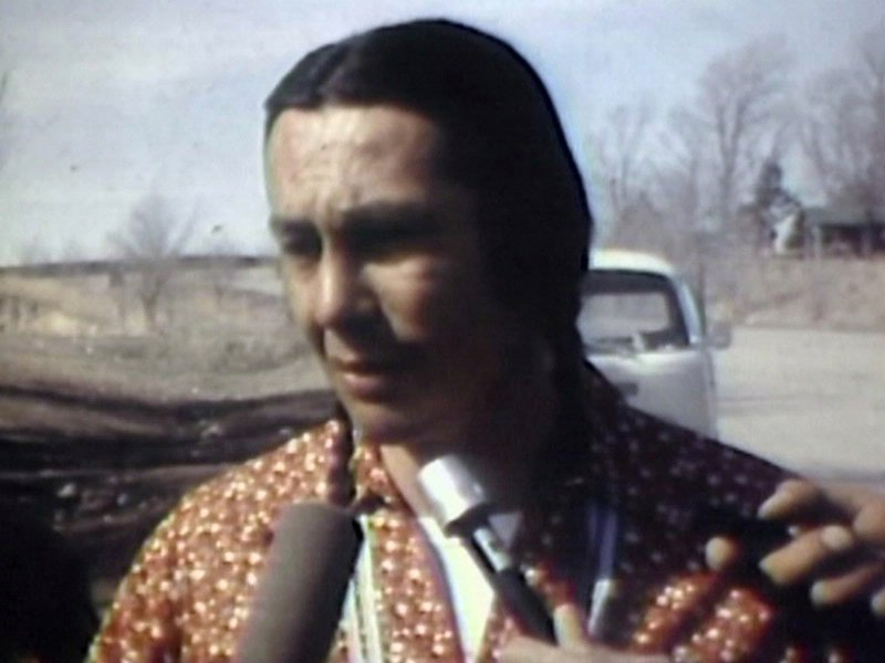 russell means in 1973 at the occupation of Wounded Knee
