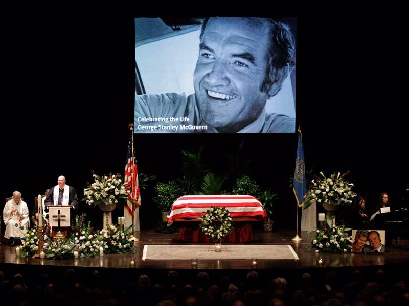 george mcgovern funeral associated press photo
