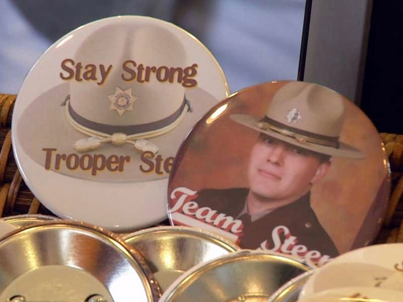 trooper andrew steen fundraiser buttons