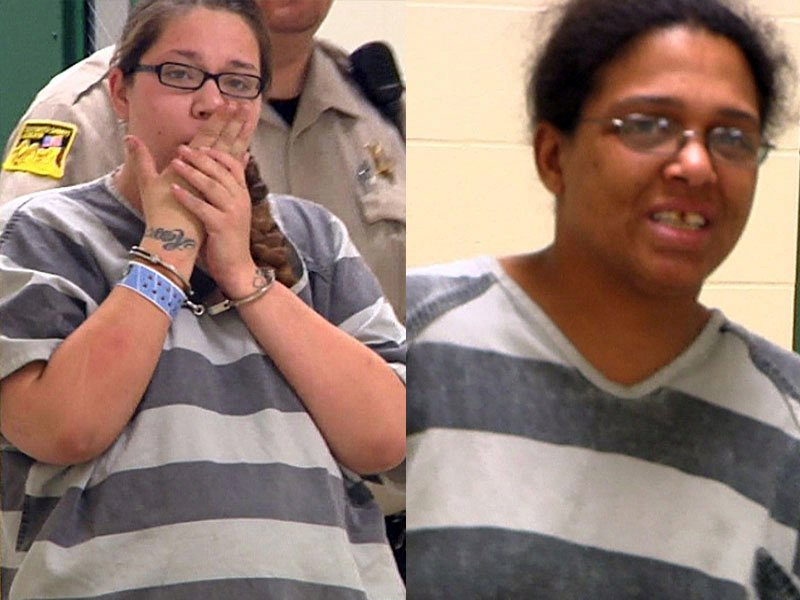 Kristina Love, left, and Felicia Dillard, right, prostitution charges