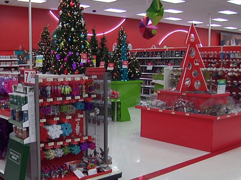 holiday hiring target christmas display retail black friday preparations