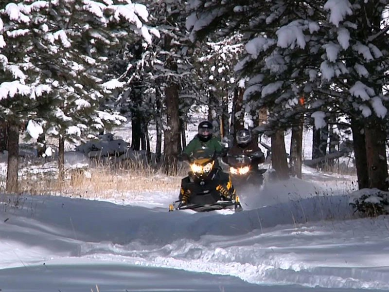 snowmobile black hills snow winter trails