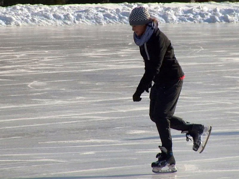 ice skating cold weather winter sports ice skater
