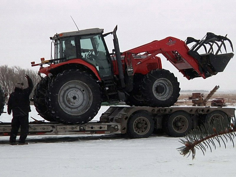 winter farming agriculture tractor crops fields